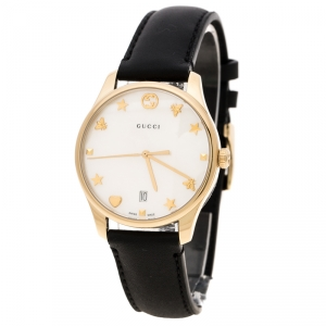 Gucci Mother of Pearl Gold Plated Stainless Steel G-Timelss 126.4 Women's Wristwatch 36 mm