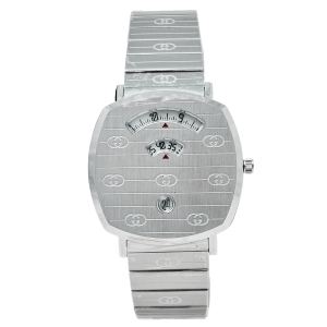 Gucci White Stainless Steel Grip YA157410 Women's Wristwatch 38 mm