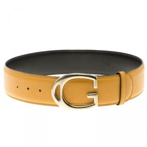 Gucci Tan Leather G Buckle Wide Belt Size 65 CM