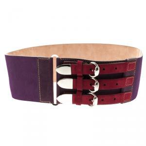 Gucci Multicolor Suede Waist Belt 80cm