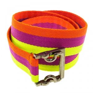 Gucci Multicolor Canvas Waistband Belt 85cm