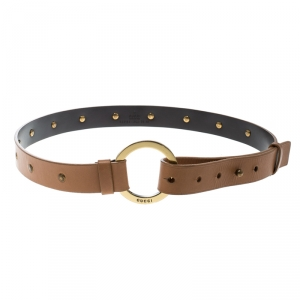 Gucci Beige Leather Studded Belt Size 75 cm