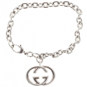 Gucci Interlocking G Charm Silver Bracelet