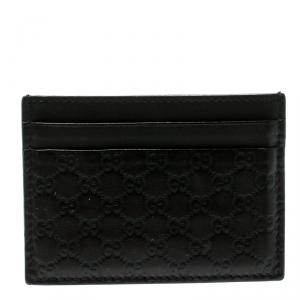 Gucci Dark Brown Microguccissima Leather Card Case