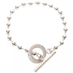Gucci Silver Bead Toggle Bracelet