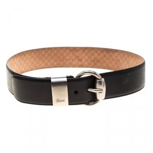 Gucci Black Leather Belt Size 95cm