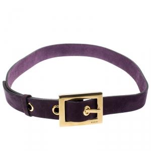 Gucci Purple Nubuck Leather Belt 85CM