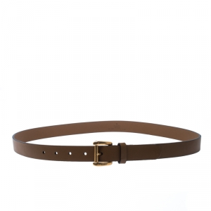 Gucci Brown Leather Buckle Belt 95CM