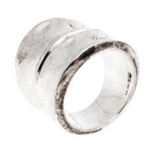 Gucci Sterling Silver Bamboo Ring Size EU 52
