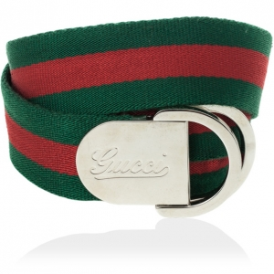Gucci Signature Web Belt With Engraved Gucci Script Logo & D Ring Buckle 110 CM