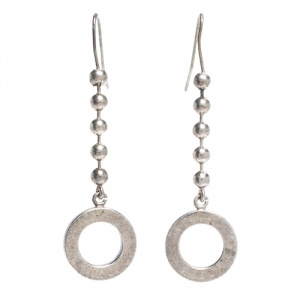 Gucci Bead Silver Drop Hook Earrings