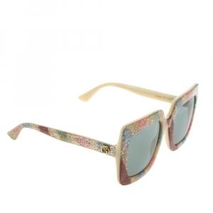 Gucci Multicolor Glitter GG0328S Oversized Square Sunglasses