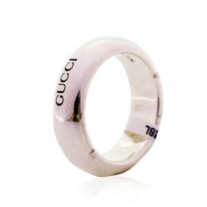Gucci Silver Band Ring Size 53
