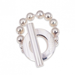 Gucci Silver T-Bar Ring Size 52