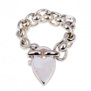 Gucci Heart Charm Ring Size 53
