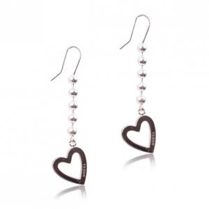 Gucci Silver Heart Pendant Earrings