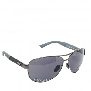 Gucci Gunmetal Tone/ Grey GG 2246/S Polarized Aviator Sunglasses