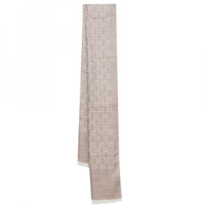 Gucci Beige GG Jacquard Wool & Silk Stole