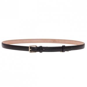 Gucci Black Guccissima Leather Skinny Belt 95CM