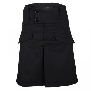 Gucci Black Pleat Detail Skirt M