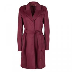Gucci Burgundy Wool Belted Long Coat M