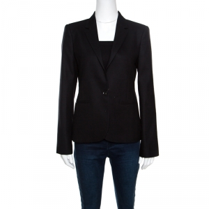 Gucci Black Wool Silk Lined Tailored Blazer M