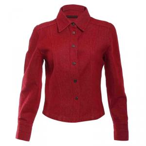 Gucci Red Denim Jacket S
