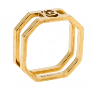 Gucci Running G 18K Yellow Gold Band Ring Size 51