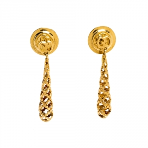 Gucci Diamantissima 18K Rose Gold Drop Earrings