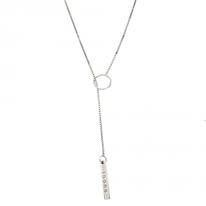 Gucci 18K White Gold Chain Y Lariat Necklace