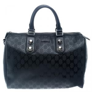 Gucci Black Imprime Canvas Joy Boston Bag