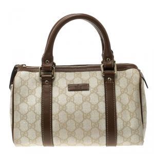 Gucci Beige/Brown GG Coated Canvas Small Joy Boston Bag