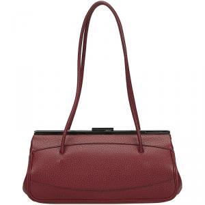 Gucci Bordeaux Leather Satchel Bag