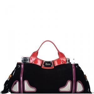 Gucci Multi-color Suede Race Bag