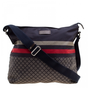 Gucci Multicolor Diamante Nylon Web Messenger Bag