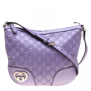 Gucci Purple Guccissima Leather Lovely Messenger Bag