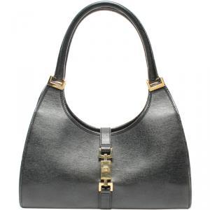 Gucci Black Leather Jackie O Bag