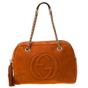 Gucci Copper Nubuck Leather Soho Satchel