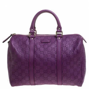 Gucci Purple Guccissima Leather Medium Joy Boston Bag