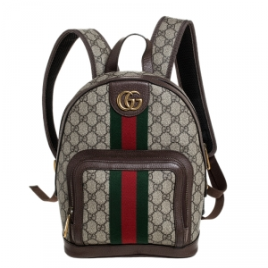 Gucci Beige/Ebony GG Supreme Coated Canvas Small Ophidia Backpack