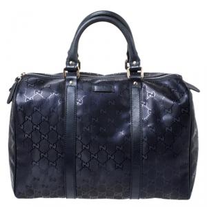 Gucci Purple GG Imprime Medium Joy Boston Bag