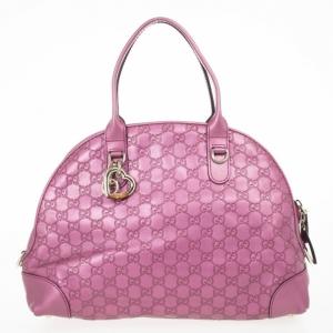Gucci Guccissima Heart Bit Medium Top Handle Dome Bag
