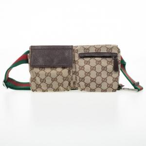 Gucci Brown Monogram Belt Bag