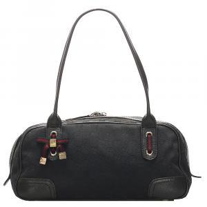 Gucci Black GG Canvas Web Princy Shoulder Bag