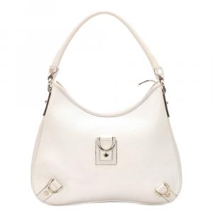 Gucci White Leather Abbey Shoulder Bag