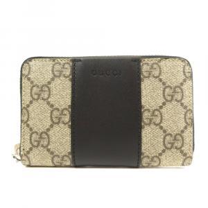 Gucci Beige/brown GG Supreme Canvas Wallet