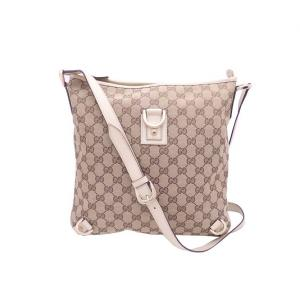 Gucci Beige/Brown GG Canvas Abbey D-Ring Shoulder Bag