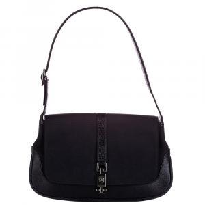 Gucci Black Canvas Jackie Shoulder Bag