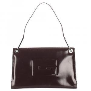 Gucci Burgundy Leather Tote Bag