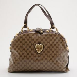 Gucci Babouska Crystal GG Crest Dome Bag